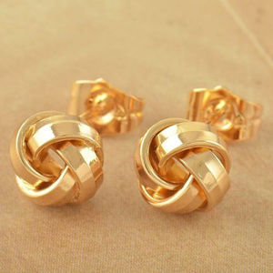 14K Solid Gold Filled Classic Love Knot Studs